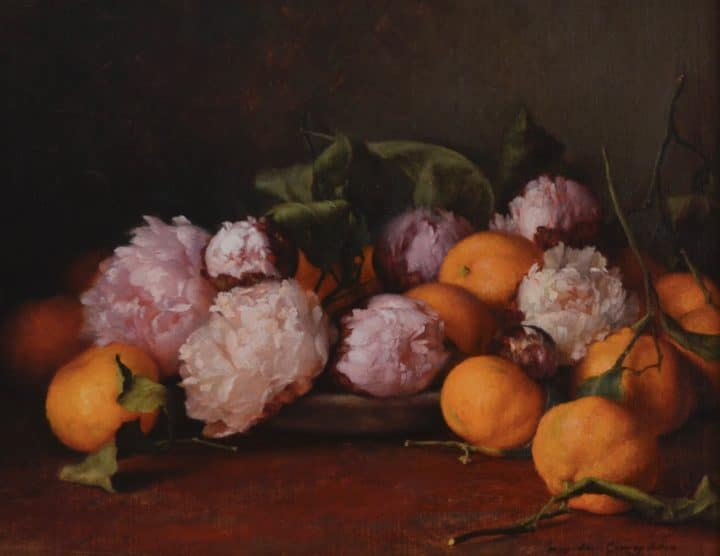 Satsumas and Peonies