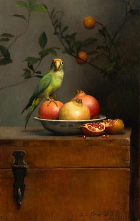 Still Life with Parrot and Pomegranates