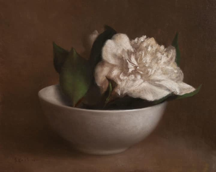 White Camellias in a Bowl