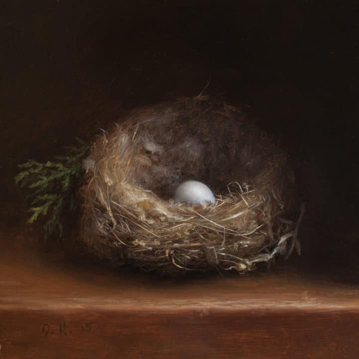Nest with Egg and Cypress