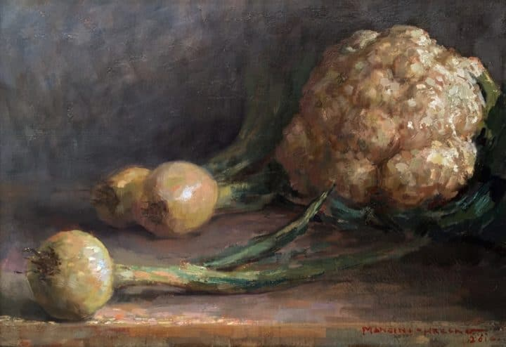 Cauliflower and Onion in Warm Light