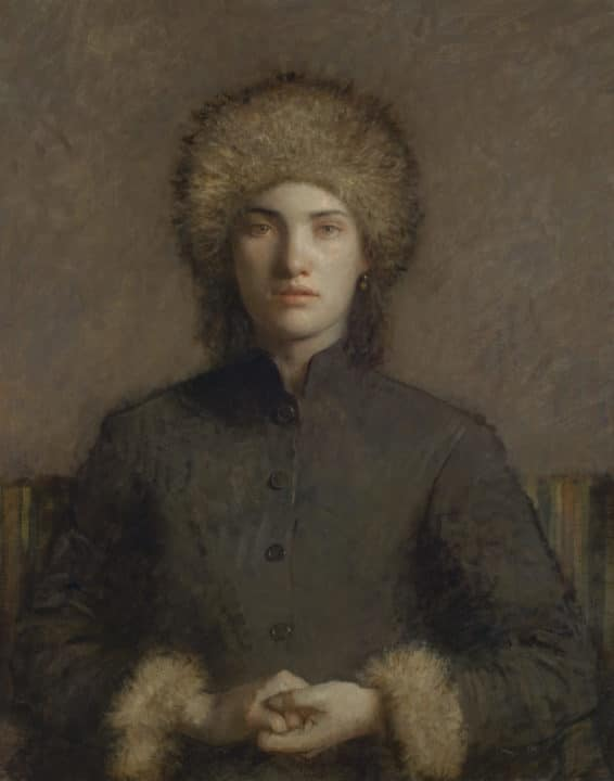 Portrait of a Girl in a Fur Hat