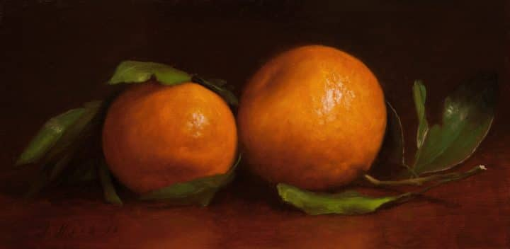 Two Mandarins on a Table