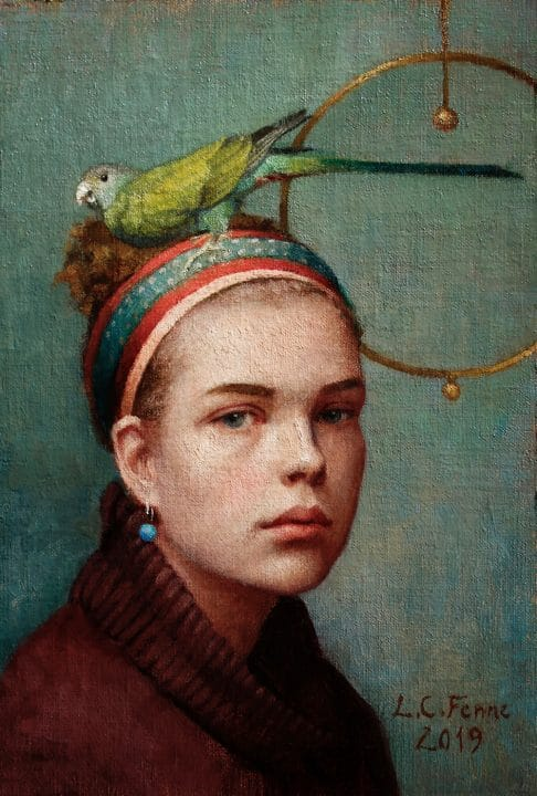 Girl and Her Parrot No. 3