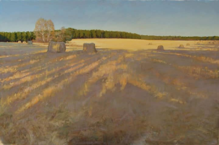 Hay Bales on Hobby Field, Southern Pines