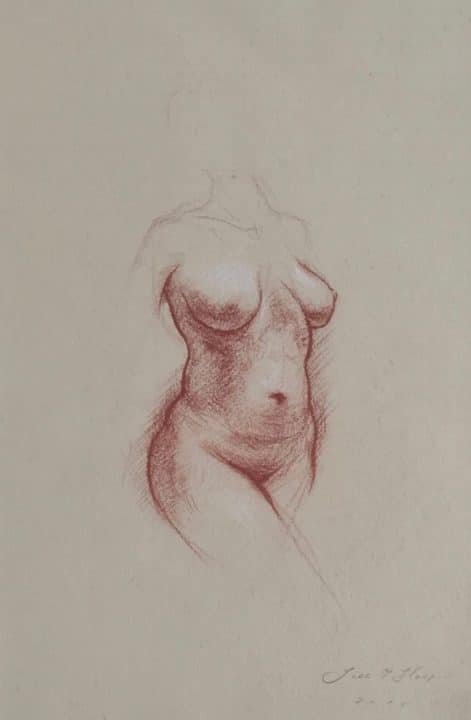 Torso Drawn in Leighton's Studio
