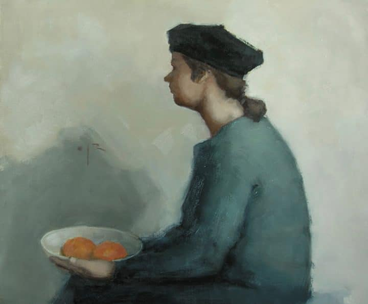 Figure with Two Oranges