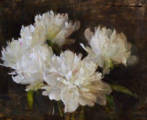 White Peonies in Bloom