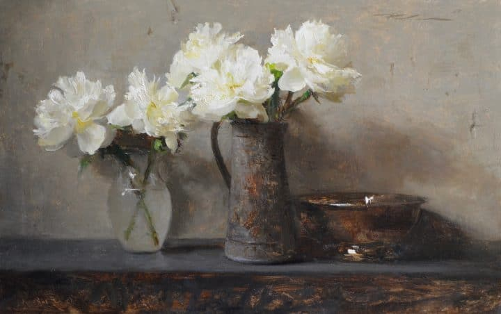 Peonies with Jar