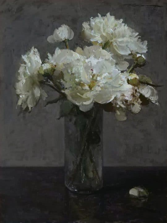 White Peonies, Garden Arrangement