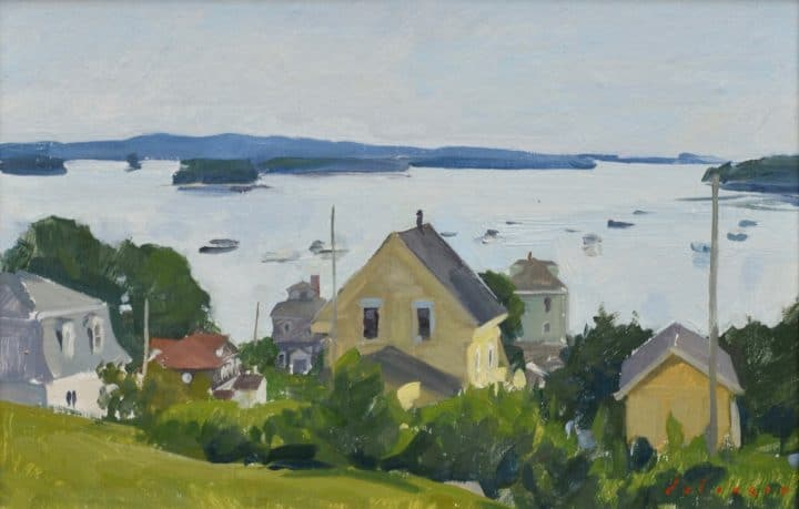 View from Church Street, Penobscot Bay