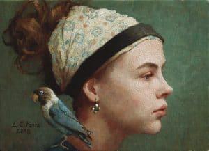 Karoline with Lovebird