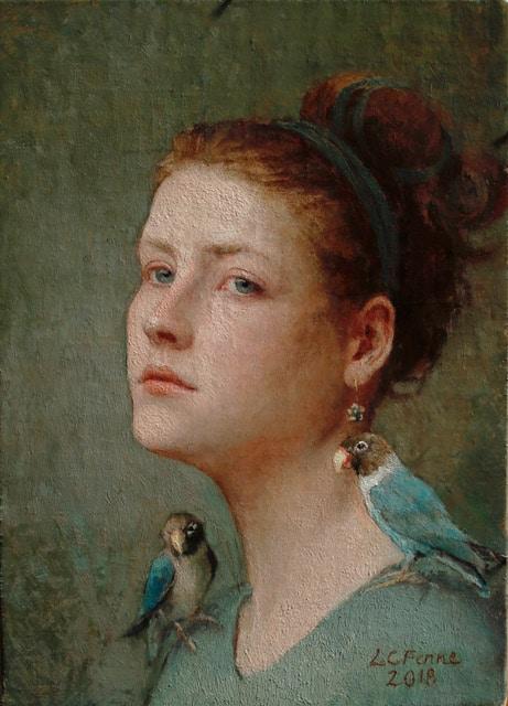 Mathilde with Lovebirds