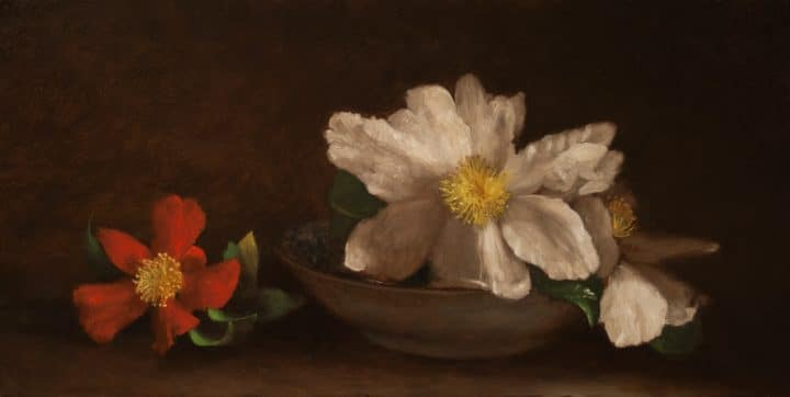 Camellias with Bowl