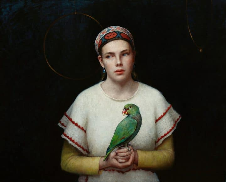 Girl and Her Parrot No. 2
