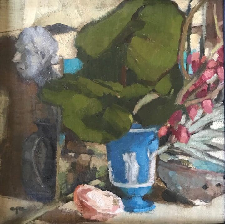 Still Life with Seagrape Leaves
