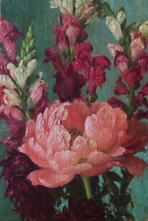 Peony and Snap Dragons