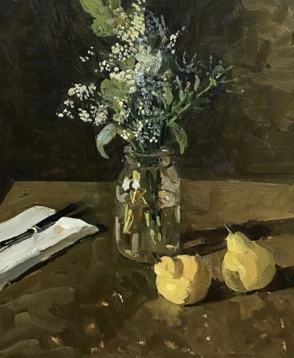 Flowers with Pears