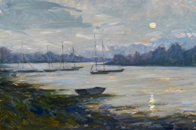 Moonrise on the Loire