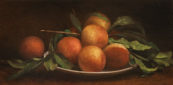 Peaches with Bowl